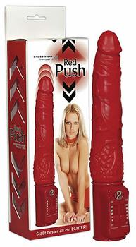 Red Push Vibrator med Stødfunktion