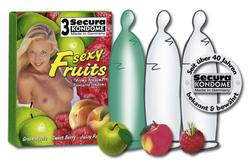 Secura Sexy Fruits 3 stk