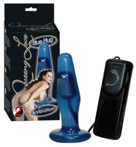 Queeny Love Clear Blue buttplug